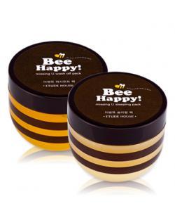 ETUDE HOUSE_BEE HAPPY蜂蜜暖氣修護面膜(水洗式)