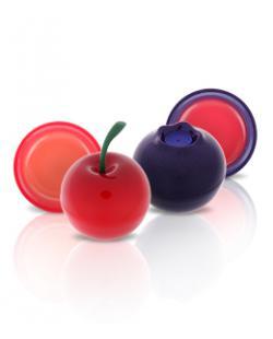 TONYMOLY_迷你水果潤唇膏 小桃子/小紅莓/藍莓