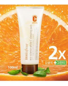 Innisfree_2C雙倍甜橙美白修護晚安面膜