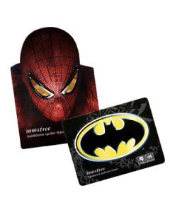 Innisfree_我是帥英雄面膜 蝙蝠俠毛孔緊緻修護黑竹面膜/蜘蛛人修護保濕覆盆莓面膜