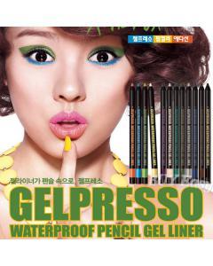 CLIO 珂莉奧_炫彩防水眼線膠筆(旋轉式+削筆器) 12色